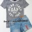 SP027 Gap Kids T-Shirt + Zara KIds short jeans sz 8-10 ปี thumbnail 1