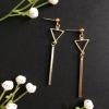 triangle long drop earrings