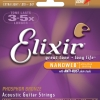 สายชุดกีต้าร์โปร่ง Elixir 16002 Phosphor Bronze Ultra Thin NanoWeb Extra Light Acoustic Guitar Strings (10