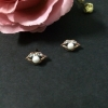 Rose golden mouth earrings