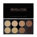 Makeup Revolution (MUR) - Ultra Cover and Concealer Palette #Medium - Dark