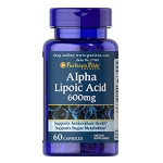 Alpha Lipoic Acid 600 mg (ALA) 60 Softgels (Puritan's pride)