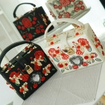 Dolce&Gabbana herat and carnation Embroidered box bag