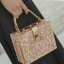 Dolce & gabbana gold diamond acylic luxury handbag thumbnail 8