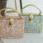 Dolce & gabbana gold diamond acylic luxury handbag thumbnail 1