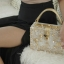Dolce & gabbana gold diamond acylic luxury handbag thumbnail 10