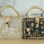 Dolce & gabbana gold diamond acylic luxury handbag thumbnail 2