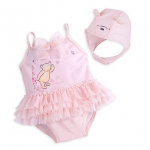 Winnie the Pooh Layette Swimsuit and Cap Set for Baby from Disney USA ของแท้100% นำเข้า จากอเมริกา
