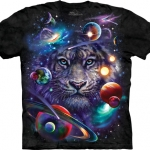 Pre.เสื้อยืดพิมพ์ลาย3D The Mountain T-shirt : White Tiger Cosmos T-Shirt