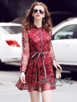 พร้อมส่ง ~ Normal Ally Present Summer Flower print Dress