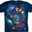 Pre.เสื้อยืดพิมพ์ลาย3D The Mountain T-shirt : Lion Of Cosmos T-Shirt thumbnail 1