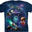 Pre.เสื้อยืดพิมพ์ลาย3D The Mountain T-shirt : Cosmic Chimp T-Shirt thumbnail 1