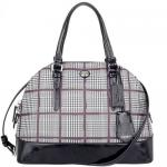 สินค้าพร้อมส่ง » กระเป๋า COACH F32841 SV/XM Peyton Glen Plaid Cora Domed Satchel Bordeaux crossbody bag