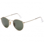 USA : แว่นตา Ray-Ban RB3447 001 50-2Unisex Adult Round Metal Sunglasses in Arista Gold Crystal Green