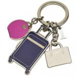 พวงกุญแจ COACH F62499 SV/MC TRAVEL MIX KEYRING FOB