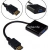 สาย HDMI to VGA Video Cable ( HDMI Male Adapter to VGA Female Built-in 1080p Chipset Converter) สำหรับ Xbox 360 PS3 PS4 และอื่นๆ