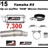 ท่อ Yamaha R3/MT-03 Devil Slip on muffler D5M micron stainless #15
