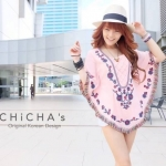 Florally Embroidery Blouse (สีชมพู)