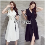 Lady Nelly Neutral Coat Dress with Belt