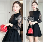 Lady Elsa Classic with a Twist and Lace Black Dress