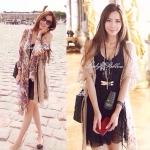 Lady Sweet Summer See-through Floral Lace Outer Set