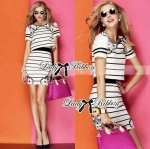 Lady Dana Blossom Graphic Play Striped Set