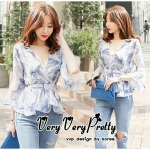Sweetie sleeves layer Chiffon Blouse