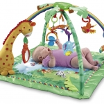 เพลยิม Fisher-Price Rainforest Melodies & Lights Deluxe Gym