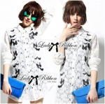 Lady Ana Butterfly Embroidered Guipure Lace Shirt Lace