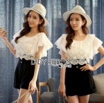 Lady Kassy Casual Chic Vintage Black & White Playsuit