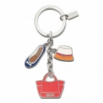พวงกุญแจ COACH F65743 SV/MC Charms Multicolor Mix Key Chain Fob