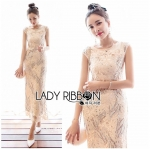 Lady Lizzie Sequin Embroidered Lace Evening Dress