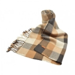 ผ้าพันคอ COACH F83830 ONE C0E Medium Charocal MULTICOLOR PLAID SQUARE SCARF