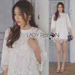 Lady Amanda Sporty Sweet Classic White Lace Dress