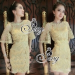 Sevy Luxury Golden Mini Dress