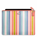 กระเป๋าใส่ iPad COACH F69760 SV/MC PEYTON MULTISTRIPE LARGE TECH POUCH IPAD TABLET