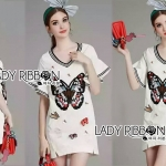 Lady Isabella Butterfly Embroidered Dress