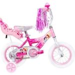 "จักรยาน 3 ล้อ 12"" Huffy Disney Princess Girls' Bike with Doll Carrier"
