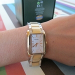 พร้อมส่งที่ไทย : นาฬิกา Fossil Zoom InZoom Out Adele Plated Stainless Steel Watch Two tone Gold Silver