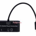 Micro USB OTG Cable SDHC TF Card Reader HUB