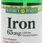 สินค้าอยู่  USA : Nature's Bounty Iron 65 Mg.(325 mg Ferrous Sulfate) 100 Caps