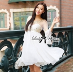 Lady Elena Crystal and Bead Embellished Tulle and Chiffon Dress