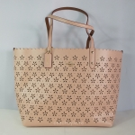 สินค้าพร้อมส่งจาก USA » กระเป๋า COACH F37650 IMF99 CITY TOTE IN LASER CUT LEATHER IMITATION GOLD/PEACH ROSE GLITTER