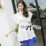 Lady Virginia Sweet Elegant Cotton Lace Dress