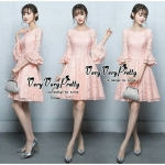 Luxurious Classic Flared sleeves Lace Dress