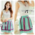 Lady Elena Embroidered Lace Top and Tribal Skirt Set