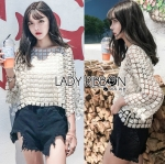 Lady Carry Feminine Flower Lace Blouse