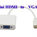 (พร้อมส่ง) สาย Mini HDMI to VGA Converter Adaptor 1080P