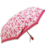 "ร่มกันฝน COACH F66637 SVCK2 Peyton Dream ""C"" Print Umbrella in White/Pink"
