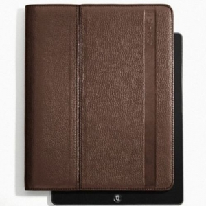 COACH F62356 MH2 CAMDEN MAHOGANY 2 PEBBLED LEATHER IPAD EASEL STYLE CASE